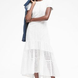 Banana republic eyelet maxi dress